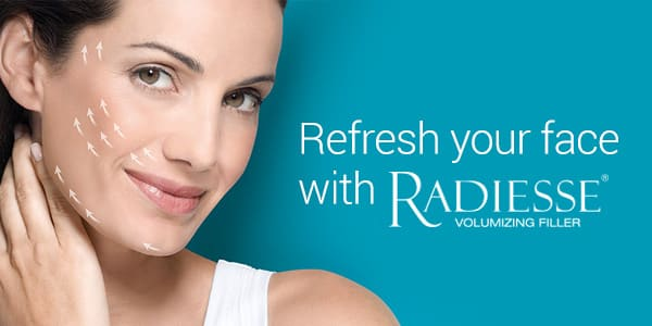 Refresh your face with Radiesse! Radiesse stimulates your body to produce it's own collagen leaving a lasting natural look.