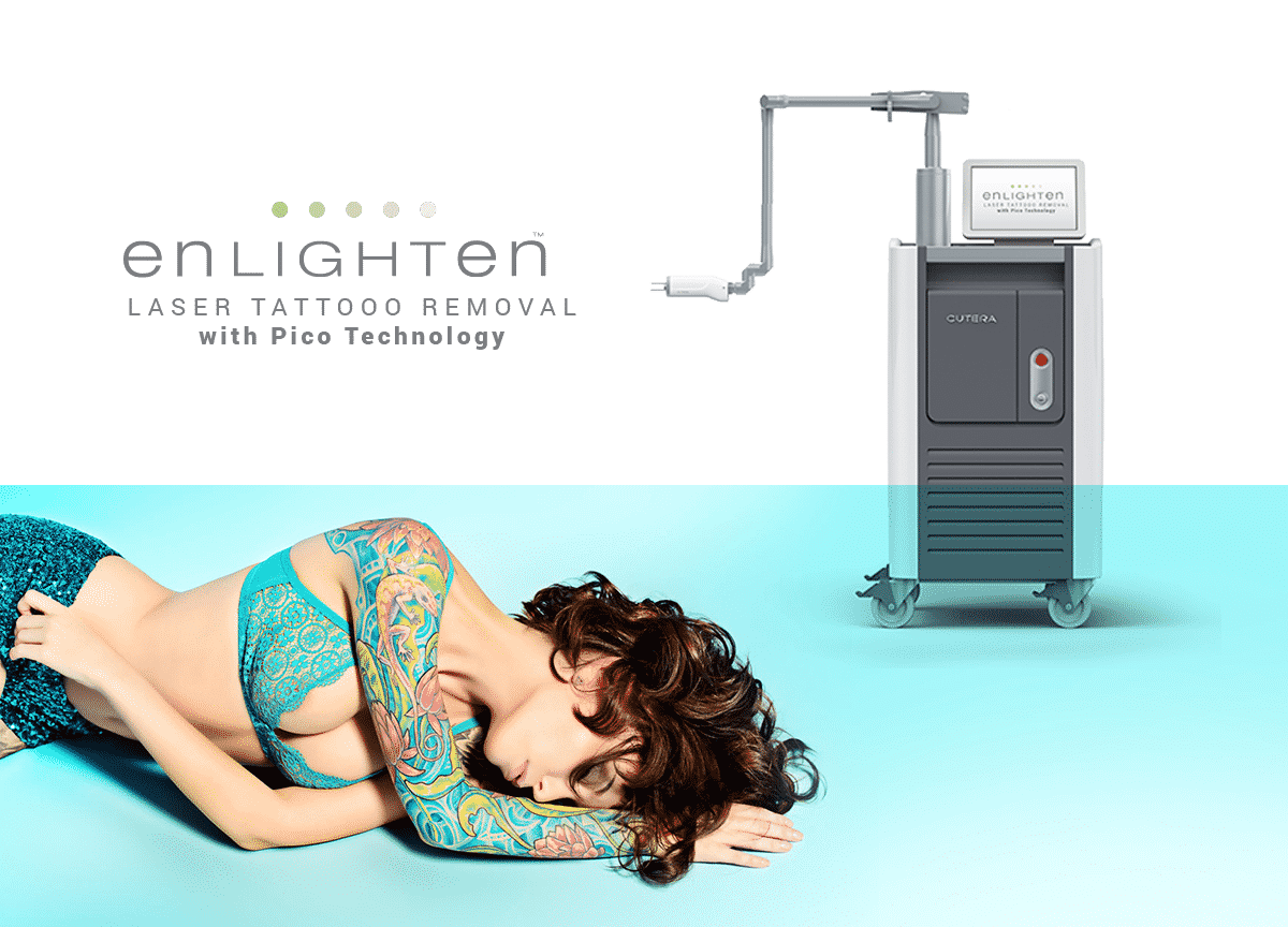The Cutera Enlighten with Picosecond technology is the most advanced tattoo removal laser on the market