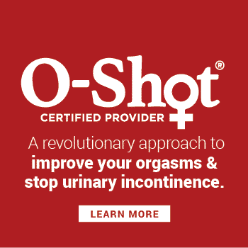 The o shot is a revolutionary approach to improving orgasms and stopping urinary incontinence.